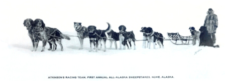Percy H. Blatchford (musher, racer and mail carrier) also Ruby Hollembaek's grandfather.  His children affectionately c